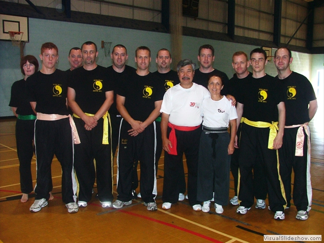 Group photo with Master Yau and Guardian Morag Quirk at Summer Course 2006 Scarborough