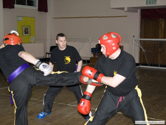 Sparring at training in Navan