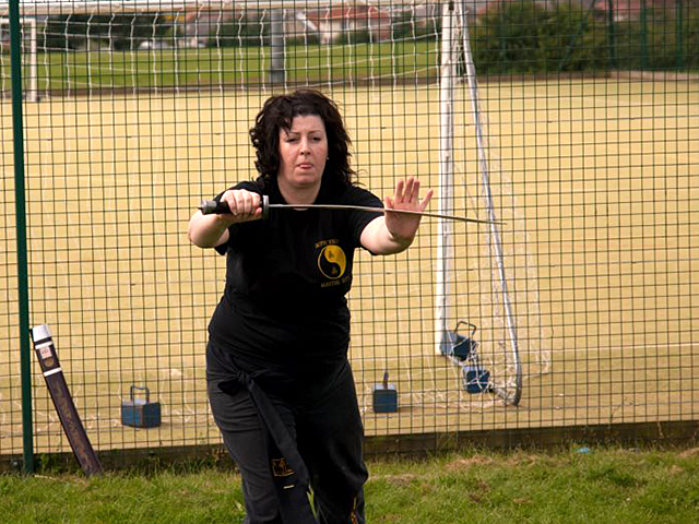 Catriona Farrell Training at the Summer Course