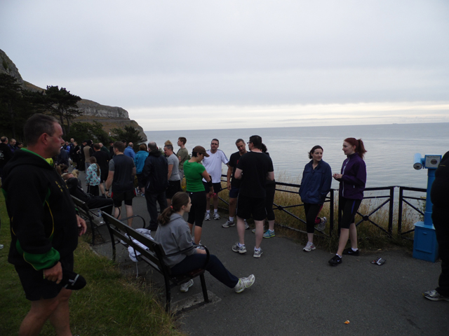 Getting ready for the morning run at the Summer Course