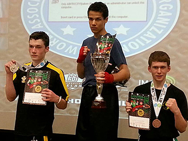 Eoin Sweeney from the Drogheda class who took 3rd place in the cadets section at the Irish Open
