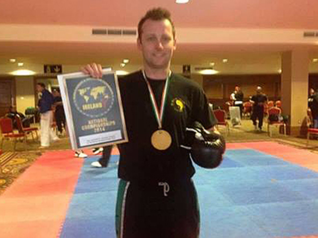 Glenn Chegwidden who picked up a bronze medal in the Veterans section of the World Kickboxing Championships