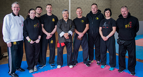 Group photo at Master Yau Course with Master Yau and Guardian Pete Hornby