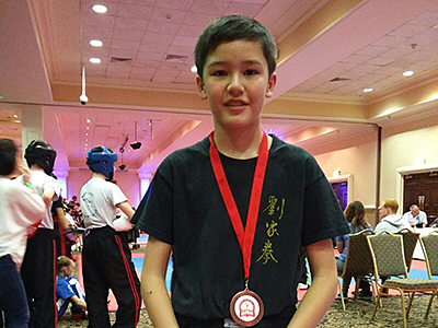 Tyler at The Rumble Competition, took 3rd place Junior Novice