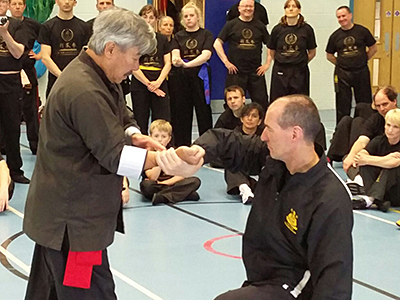 Master Yau and Guardian Alec Clark at the Summer Course