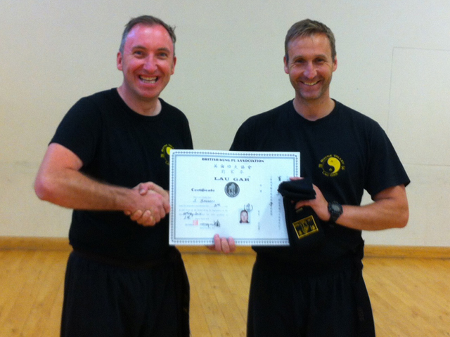 Stephen Bennett receiving Black Sash